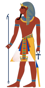 Painting of an Egyptian Pharaoh